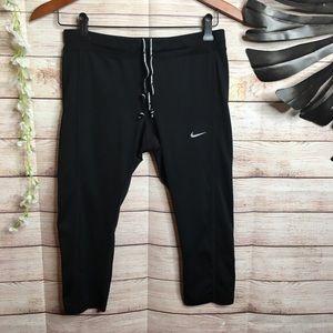 Nike Running Black crop leggings size M